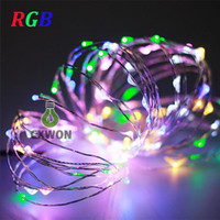 Wholesale Outdoor Fairy Lights Battery Power - 2m 20LED 5m 50led string light outdoor for Christmas Fairy Lights Copper Wire lamp Starry Light with 3AAA Battery power