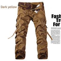 Wholesale Military Pants Knee Pads - men's cargo Pants millitary clothing Tactical Pants Military knee pads Men Outdoor Camouflage army style camo workwear Trousers