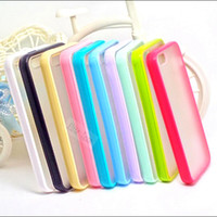 Wholesale Iphone5 Case 1pc - SU88:1PC Hot Sold!Free Shipping Low Price TPU+PC Transparent Edge Cases Cover For Apple iphone 5 5s iPhone5 5S Cases shell-OIUAH