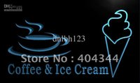 Wholesale Commercial Coffee - LK711-TM Coffee Ice Cream Cafe Shop Gift Neon Light Sign. Advertising. led panel, Free Shipping, Wholesale