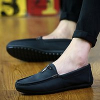 Wholesale Boat Shoes Business Casual - Mens Casual Leather Shoes Fashion Pu Shoes Lazy boat shoes Business Work shoes truck Driver shoes