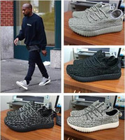 Wholesale Cream Ankle Boots - 2017 SHIPPING HOT SALE 350 boost Running shoes Classic Low Kanye West Athletic Boots Ankle Boots Low cut Sports running shoes 36~48