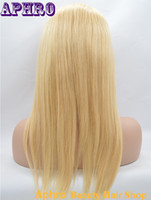 Wholesale Wig 22 613 Blonde Mixed - Silky Straight 22# Mix 613# Blonde Brazilian Human Hair Glueless Silk Top Full Lace Wigs 130%Density Blonde Lace Front Wig With Baby Hair