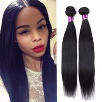 Wholesale Indain Human Hair - Filipino Hair Straight Virgin Human Hair Weaves 3pcs Lot 100% Unprocessed Brazilian Peruvian Malaysian Indain Filipino Straight Hair Wefts