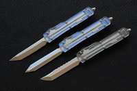 Wholesale Transparent Satin - Free shipping,MIKER Ultratech(Apocalyptic)knife Blade:D2(Satin) Handle:Aluminum(Transparent version)Outdoor camping hunting knife