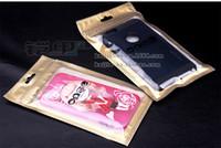étui étanche iphone 5s or achat en gros de-Gros bricolage personnaliser paquet or blanc couleur fermeture à glissière étanche des sacs en plastique universels pour iphone 5s iphone 6 6 plus emballage de cas