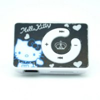 Hochwertige Mini Hello Kitty MP3 Musik Spieler Clip MP3 Player Unterstützung TF Karte mit hallo KItty EarphoneMini USB
