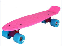 "Wholesale Skate Shape - 22"" Good quality fish board mini cruiser skate board cool shape penny style skateboard banana style longboard"