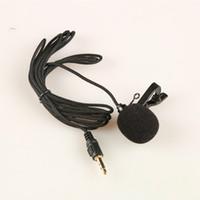 el tel pc toptan satış-Mini Eller Ücretsiz Yaka Üzerinde Yaka Mikrofonu Mic Kablolu Mikrofonlar PC Dizüstü Dizüstü Skype Için 2.5 Mm 3.5mm