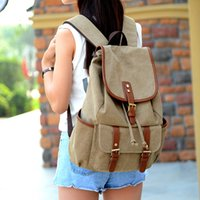 Wholesale Squirrel Backpack - Squirrel fashion canvas vintage Korean and Japan preppy style unisex backpacks out door travel bag casual classic boy's rucksack