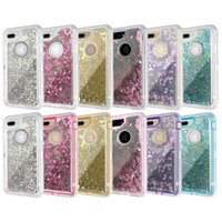 Wholesale Case Quicksand Lg - Transparent Clear Bling Liquid Quicksand Crystal Robot Rugged Hybrid Cover Case For iPhone 6 6S 7 X Samsung Galaxy S8 S9 Plus Note 8 Note8
