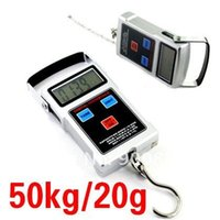 Wholesale Digital Lcd Handheld Scale - LCD Digital Fishing Hook Scale 50kg 20g Electronic Lage Scales Weight Balance Handheld Travel Suitcase 4 in 1 Free Shipping