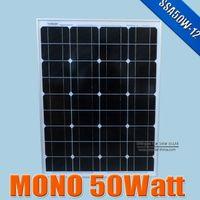 Wholesale Pv Solar Systems - 50W 18V monocrystalline silicon Solar Panel used for 12V photovoltaic power home system, 50Watt 50WP 12VDC PV mono solar Module