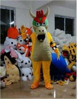 Wholesale Costume Bowser - Hot selling 2016 Adult cute High quality SUPER MARIO BOWSER KOOPA Adult Size Mascot Costume Fancy Outfit