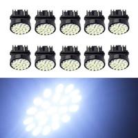 светодиодный экстерьер автомобиля оптовых-EverBright Белый T25 3157 1206 22SMD Светодиодные лампы наружного освещения для боковой части автомобиля Сделать лампочки постоянного тока 12 В