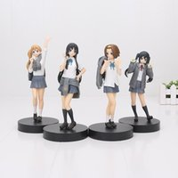 Wholesale K Mio - K-on! Hirasawa Yui Akiyama Mio Tainaka Ritsu Kotobuki Tsumugi Nakano Azusa 5th anniversary PVC Action Figure Model Toys