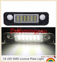 Wholesale Ford Numbers - 2016 10pcs Lot 12V 18 LED Bulbs License Number Plate Light Lamp For Ford For Mondeo MK2