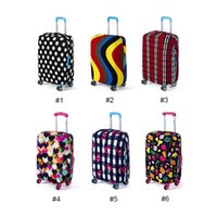 Wholesale Travel Products Wholesale - Elastic Printing Luggage Protective Cover Trolley Suitcase Dust Bags Case Fashion Travel Accessories Product Supplies 0703171
