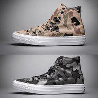 Designer Canvas Shoes Chuck 2 3M Camouflage Casual Shoes para homens e mulheres Classic Stars Mens Womens Flat Canvas Shoes