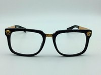 Wholesale Eyeglass Hinges - new medusa glasses prescription eyewear frame vintage frame men brand designer eyeglasses with original case VS retro design gold plated