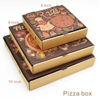 Wholesale Paper Box Pizza - 6 9 10 Inch Pizza Box Wood Pulp Environmental Non-toxic Non-fluorescent agen Free Gift Of The Same Amount Of Lace Pad Paper.