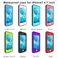 ingrosso iphone 5.5 casi-Custodia impermeabile resistente agli urti, resistente agli urti, resistente agli intemperie per Apple iPhone 7 4.7 '' 5.5 '' 8 colori