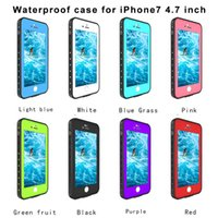 iphone wasserdichte fallfarben großhandel-Wasserdicht stoßfest Schmutz Schnee Beweis langlebig Punkt Fall Deckung für Apple iPhone 7 4,7 '' 5,5 '' 8 Farben
