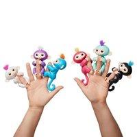 Wholesale American Kids Monkey - Pre-sale Fingerlings Monkey Electronic Pet Monkey 6 Colors Cartoon Key Rings Gifts for Kids  Fidget Toys