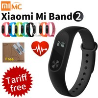 Wholesale Oled Watches - Original Xiaomi Mi Band 2 Smart Fitness Bracelet watch Wristband Miband OLED Touchpad Sleep Monitor Heart Rate Mi Band2 Freeship