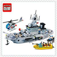 Wholesale Enlighten Military - ENLIGHTEN 821 Military Series Missile Cruiser Model Building Block 843Pcs Educational Toys For Children Compatible Legoe