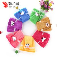 Wholesale Factory Direct Fan Shaped Coral Velvet Soft Absorbent Multi Color Lace Hanging Towel Hanging Towel HY1222