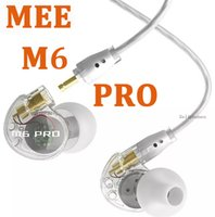 Wholesale Earpiece Phone Cable - MEE M6 PRO Earbud Universal-Fit Noise-Isolating Headset In-Ear Earphone For i Phone 7 Monitors Detachable Cables Earpiece hbq i7 HOTSELL