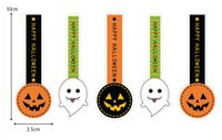 Wholesale Labels Cosmetics - Halloween Label Stickers Fashion pumpkin Baking seal Labels Cosmetic bottle sticker Gift Packaging Label Stickers C2038