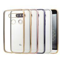 lg g3 beat cases al por mayor-Alta calidad de lujo ultra fino claro cristal chapado de goma galvanoplastia TPU suave caja del teléfono móvil para LG G2 G3 G4 G5 G6 Mini BEAT