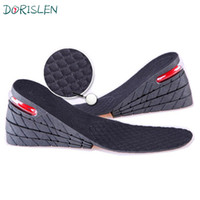 Wholesale Height Increasing Insoles Layer - 9cm PU Air Cushion Insole 4 Layer Height Increase Shoe Pads Black 200pairs