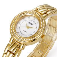 Wholesale Reloj Dama - Reloj de lujo de las mujeres relojes de réplicas de relojes de lujo relojes de cuarzo dama de negocios a prueba de agua de acero inoxidable