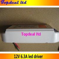Wholesale Stip Led Lights - 2pcs lot 75W 12V 6.3A LED driver adapter transfor for led stip light light, 90-240V input, Hotsale