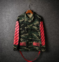 Wholesale Men Blend Jacket Red - winter Top Design clothes coat kryptek camouflage camo armband ma1 men jacket off white 13 virgil abloh swag Supremitied women jacket