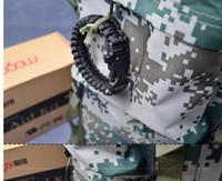 Wholesale survival wristband paracord for sale - Group buy Survival Bracelets Paracord Parachute Hiking Bracelet Escape Bracelet Handmade wristband Outdoor Charm Bracelets Gear paracord rope kit