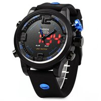 Wholesale Ohsen Luxury Watch - OHSEN AD2820 Men Silicone Sports Quartz Watch Big Dial Double Movement 5ATM Water Resistant men watch luxury brand