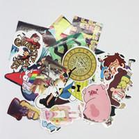 Wholesale Kids Luggage Set - 25Pcs lot Funny Anime Gravity Falls Sticker For Car Laptop Lage Skateboard Motorcycle Decal Kids Toy Sticker