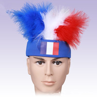 Wholesale Masquerade Fans - 2016 France European Cup surrounding Football fans cheering wigs for each countrymulticolors wigs for Party masquerade
