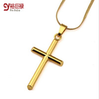 Wholesale white contracts - 45cm Women Men Short 18k Gold Filled Cross Pendant Chokers Contracted Snake Necklaces Hip Hop Crucifix Jewelry Birthday Gifts