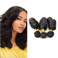 Wholesale Double Drawn Extensions - Double Drawn Funmi Hair 9A Aunty Funmi Hair Romance Curls 100% Peruvian Natural Color Human Hair Extension Bouncy Curl Egg Curl Stock
