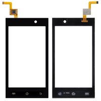 Wholesale Micromax Touch Phones - 4.0Inches Cell Phone Black Touch HH Fit For Micromax A093 Touch Screen Digitizer Sensor Front Glass Lens Panel Replacement Free Shipping 1Pc