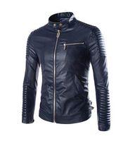 Wholesale Pu Process - Fall-Motorcycle jackets Special process machine super stylish PU leather coat leisure leather jackets Fashion coat for men 2016