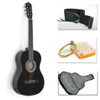 Wholesale Guitar Tuners Picks - New Beginners Acoustic Guitar With Guitar Case, Strap, Tuner and Pick