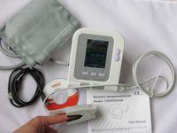 Wholesale Hand Foot Cuffs - Contec08A Digital Blood Pressure Monitor Cuffs USB SpO2 Probe Pulse Rate Ox Oxi Meter Oximeter Oxymeter Patient Oxygen Sensor