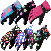 Wholesale Women S Fashion Winter Gloves - Women's Skiing or Snowboarding Gloves Female Winter Thermal Gloves Bright Colors Cycling or Sport Gloves for Women on Sales 2016 Fashion New