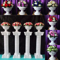 Wholesale Led Wedding Cake Toppers - 36 pcs Flower Head for one Bouquet Fashion Wedding Roman Column Road Leads Flowers For Wedding Backdrop Decorations